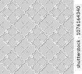 3d white paper art curve check... | Shutterstock .eps vector #1076164340