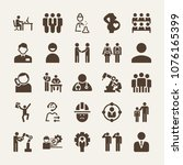 people filled vector icon set... | Shutterstock .eps vector #1076165399