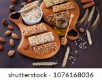cereal granola bar with nuts... | Shutterstock . vector #1076168036