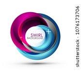 spiral swirl flowing lines 3d...   Shutterstock .eps vector #1076173706