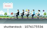 group of business people...   Shutterstock .eps vector #1076175536