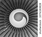 Small photo of Aircraft engine fan detail