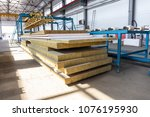 industrial manufactory workshop ... | Shutterstock . vector #1076195930