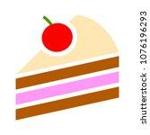 vector cake illustration... | Shutterstock .eps vector #1076196293