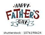 handlettering happy father's... | Shutterstock .eps vector #1076198624