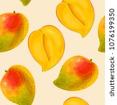 mango seamless pattern | Shutterstock .eps vector #1076199350
