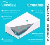 best mattress product promotion ... | Shutterstock .eps vector #1076199860
