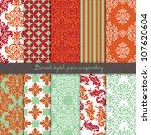 damask scrapbook paper | Shutterstock .eps vector #107620604