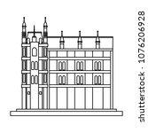 europe antique building on... | Shutterstock .eps vector #1076206928