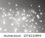 white sparks glitter special...   Shutterstock .eps vector #1076210894