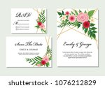wedding invitation  save the... | Shutterstock .eps vector #1076212829