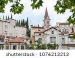 amelie les bains palada france... | Shutterstock . vector #1076213213