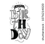 happy birthday greeting card.... | Shutterstock .eps vector #1076214020