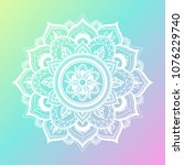 round gradient mandala on...   Shutterstock .eps vector #1076229740