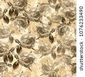 decorative flower element for... | Shutterstock . vector #1076233490