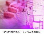 chemistry science formula.... | Shutterstock . vector #1076255888
