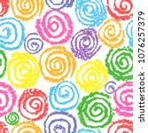 crayon colorful hand drawing... | Shutterstock .eps vector #1076257379