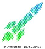 halftone dot missile launch... | Shutterstock . vector #1076260433