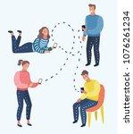 vector cartoon illustration of... | Shutterstock .eps vector #1076261234