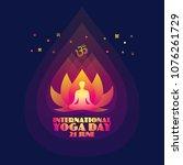 international yoga day....   Shutterstock .eps vector #1076261729