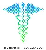 halftone circle medical... | Shutterstock . vector #1076264330