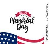 happy memorial day handwritten... | Shutterstock .eps vector #1076269499