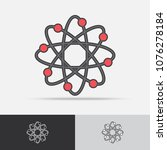 science vector icon flat design ... | Shutterstock .eps vector #1076278184