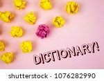 text sign showing dictionary...   Shutterstock . vector #1076282990