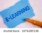 text sign showing e learning....   Shutterstock . vector #1076285138