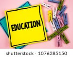text sign showing education....   Shutterstock . vector #1076285150