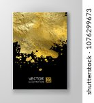 vector black and gold design... | Shutterstock .eps vector #1076299673