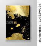 vector black and gold design... | Shutterstock .eps vector #1076299739