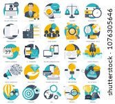 business  technology and... | Shutterstock .eps vector #1076305646
