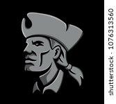 metallic style flat icon or... | Shutterstock .eps vector #1076313560