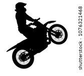 silhouettes rider participates... | Shutterstock . vector #1076321468