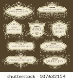 vintage ornament elements | Shutterstock .eps vector #107632154