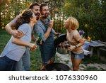 group of friends having fun...   Shutterstock . vector #1076330960