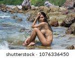 women with beautiful body look...   Shutterstock . vector #1076336450