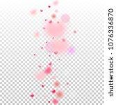 hearts random background. st.... | Shutterstock .eps vector #1076336870
