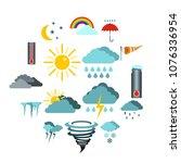 flat weather icons set....