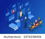 isometric training  online... | Shutterstock .eps vector #1076338406