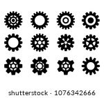 set of the gears. steampunk.... | Shutterstock .eps vector #1076342666