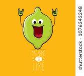 vector funny cartoon cute green ...   Shutterstock .eps vector #1076343248