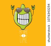 vector funny cartoon cute green ...   Shutterstock .eps vector #1076343254