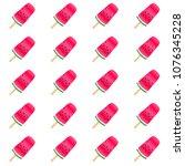 red green ice cream of... | Shutterstock .eps vector #1076345228