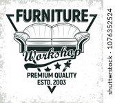 vintage furniture workshop logo ...   Shutterstock .eps vector #1076352524