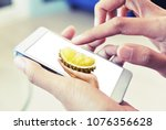 buy fruit on mobile | Shutterstock . vector #1076356628