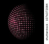 abstract globe dotted sphere ...   Shutterstock .eps vector #1076372084