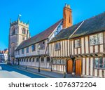 view of the guildhall in... | Shutterstock . vector #1076372204