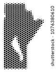 halftone hexagon manitoba... | Shutterstock .eps vector #1076380610